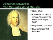 HUIS 222 Fall 2010 Jonathan Edwards Powerpoint