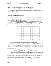 Calculus Notes 7E 15.1