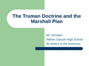 The Truman Doctrine and the Marshall Plan