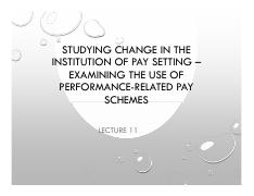 Lecture 11 Studying change  PRP