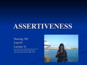 lecture 11- assertiveness