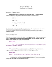 Chapter 09 Section 1-3 Notes