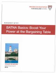 BATNA Basics - Boost your Power at the Bargaining Table