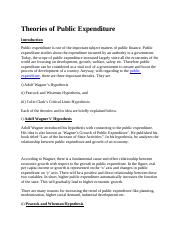 fff50Theories of Public Expenditure.docx