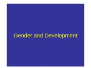 353postGender and Developmentlecture