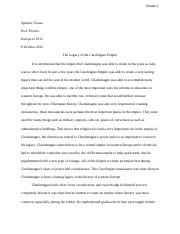 Personal Narrative Essay Examples High School  Pages Charlemagne Essay Essays About Science also Essay On Pollution In English Role Of Women Essay  Clouse  Spenser Clouse Prof Proctor Europe To  A Thesis For An Essay Should