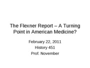 2011-02-22 -- The Flexner Report