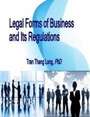 IU_Legal Forms of Business and Its Regulations
