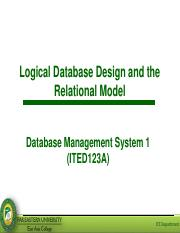Lesson 4 - Logical Database Design and Relational Model.pdf