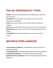 The Six Personality Types
