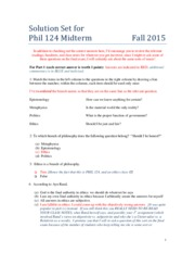 Solution Set Midterm Fall 2015r