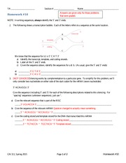 Homework 10 Answers Spring 2015