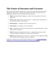 The Future of Intranets and Extranets.docx