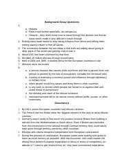 Background Essay Questions
