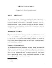 CONSTITUTIONAL LAW II NOTES_THE EXECUTIVE-3