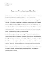 Report on Philips Healthcare Plant Tour.docx