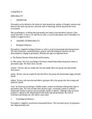 Psychology Chapter 13