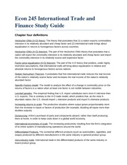 Econ 245 International Trade and Finance Study Guide