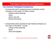 13 Tribological Components