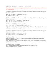 MATH 207 Fall 2015 Assignment 10