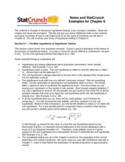 Chapter 8 statcrunch