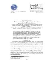 The thermal stability of poly(methyl methacrylate)..pdf