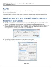 Lab 1 - HTTP, DNS, and Email - MIS 307