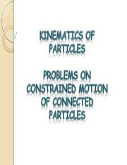 Y16_Dynamics_Constrained Motion of Connected Particles - Problems