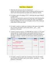 Note Sheet - Chapter 10