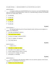 Exam Week 1 Managerial Accounting ACG3073.docx