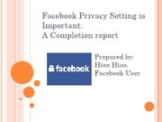 Facebook Privacy Setting is Important