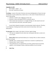 Psych 1000 (FULL) Notes