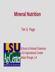 ANSC 4009 Topic 10 Macrominerals
