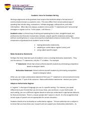 Academic Voice for Graduate Writing