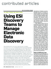 Manage Electronic Data Discovery