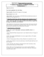 World Regional Article Worksheet (Russia and PostSoviet).docx