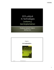 Lecture 5 Implantation