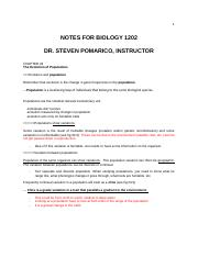 Chapter 23 notes - BIOL1202.docx
