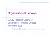 Organizational Surveys presentation