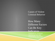 Causes of Violent Criminal Behavior