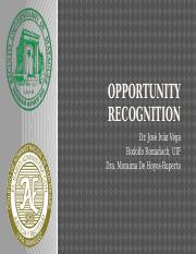 5 Opportunity Recognition 2016