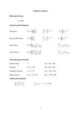 Statistical and Solid Physics Notes _exam_2004