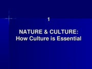1 Nature and Culture