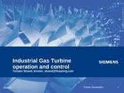 Industrial Gas turbine operation and  control 2009