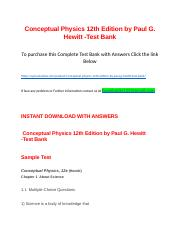 Conceptual Physics 12th Edition by Paul G. Hewitt -Test Bank.docx