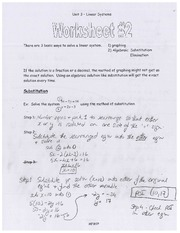 Linear Systems- Worksheet 2
