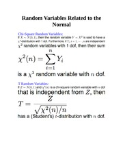 Random Variables Related to the Normal