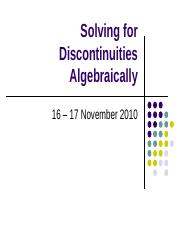 Solving for Discontinuities Algebraically (1).ppt