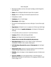 Infant study guide