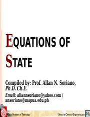 Eqns of State